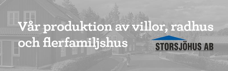 Storsjöhus – produktion av villor, radhus och flerfamiljshus